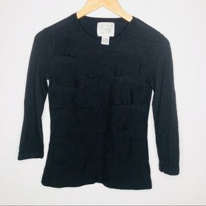 Helios & Luna black wool bandage top